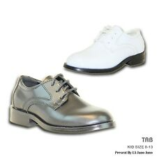 VANGELO New Boy Dress Shoes TAB Tuxedo For Formal Wedding and Prom Wrinkle Free