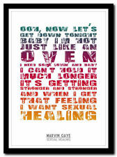 MARVIN GAYE - Sexual Healing - song lyric poster typography art print - 4 sizes