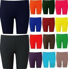 Womens Plus Size Cycling Shorts Over Knee Length Hot Pants Legging Tights