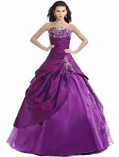FairOnly Stock Ball Gown Quinceanera Dresses Prom Dress Size 6 8 10 12 14 16