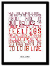 FRANK TURNER - I Knew Prufrock  - song lyric poster typography art print 4 sizes