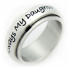 Always My Daughter Stainless Steel Spinner Ring Gifts For Her