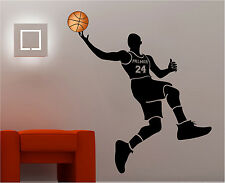 Basketball Player Sports Wall Decal Sticker Custom Name & Jersey Number