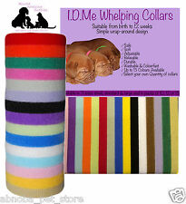 Whelping Collars Velcro Reusable 15 Colours Available Newborn Toy Puppy Kittens