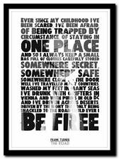 FRANK TURNER - The Road - song lyric poster typography art print - 4 sizes