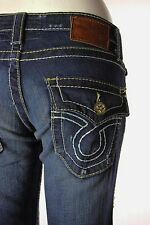 Big Star Jeans Liv Irregular Boot Cut Womens Denim Size 24 - 36