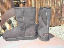 NEW Womens UGG Australia Classic Short Chocolate All Sizes Sheepskin Boots