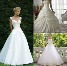 New  style White / Ivory Wedding Dress Bridal Gown stock Size: 6/8/10/12/14/16
