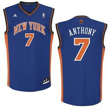 NBA Basketball Trikot/Jersey Revolution30 NEW YORK KNICKS Carmelo Anthony #7 blu