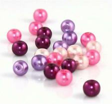 TOP QUALITY PURPLE & PINK MIX  GLASS PEARL BEADS FREE UK POST for £5 orders