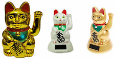Lucky Fortune Maneki Neko Beckoning Money Chinese Waving Solar Or Battery Cat