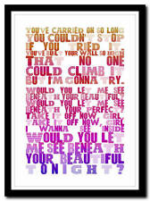 LABRINTH - Beneath Your Beautiful- lyrics  poster typography art print - 4 sizes