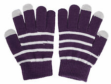 Unisex Warm Capacitive Touch Screen Gloves Stripe For Smartphone Tablet