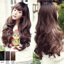 New Sexy Women Girls Fashion Style Wavy Curly Long Hair Full Wigs 3 Colors