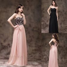 Stock Charming Long Wedding Bridesmaid Dress Formal Evening Party Prom Ball Gown