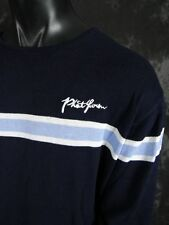 Brand New Premium Mens Rich Navy Blue With Lt Blue Trim Phat Farm LS Sweater!