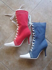 Ellie Shoes 457 Taylor  red blue Costume Dodger Angles Baseball Halloween  SS9