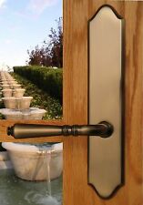 FPL Bellagio Privacy Door Lever Set & Back Plates; Bedroom and Bathroom Doors