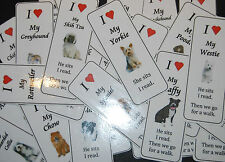 DOG BREED BOOKMARKS - 2 LARGE OR 4 SMALL OVER 25 BREEDS + YOU TELL US?