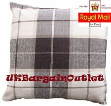 SOFT TOUCH LUXURY CHENILLE CHECK CUSHION COVER-43 X 43 CM 5 COLORS