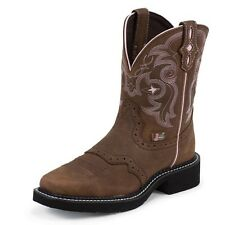 New Women's Justin L9965 Gypsy Brown Leather Cowgirl Western Boots