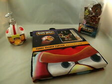 NEW ANGRY BIRDS STAR WARS FABRIC SHOWER CURTAIN & HOOKS & SOAP DISPENSER  COOL!!