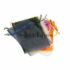 "Pack of 12pcs Assorted Colors 4""x 5"" Organza Jewelry Pouches"