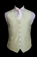 W - 438. Solid mint green, silk finish waistcoat - wedding/dress/suit/party