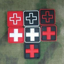 Red Cross Medical Relief 3D PVC Velcro Patch Soft shell Small