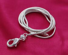 1mm Snake Chain Necklace 925 Sterling Silver Jewelry 16 18 20 22 24 26 28 30in