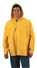 Rothco Security Guard Officer Mens Heavyweight Yellow PVC Rain Coat Rain Jacket