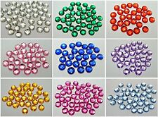 250 Acrylic Rhinestone Flatback Faceted Round Gems 8mm No Hole Pick Your Color
