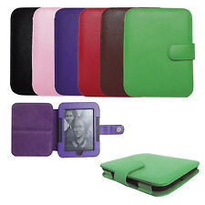 Genuine Leather Case Cover for Barnes Noble Nook 3 GlowLight and 2 Simple Touch