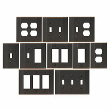 Parker Series Oil Rubbed Bronze Switch Wall Plate Duplex Wall Plate Outlet Cover