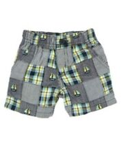 GYMBOREE BUBBLY WHALE PATCHWORK N SHIP WOVEN SHORTS 0 3 6 18 24 NWT