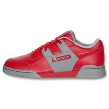 REEBOK CLASSIC WORKOUT PLUS RETRO CASUAL SNEAKER RED NEW MENS SIZES 12 13 14