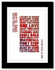 ❤ The Stone Roses - Spike Island  ❤ SETLIST typography art poster print