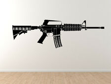 Heavy Weapon #6 - M4 carbine Military Assault Rifle Gun - Vinyl Wall Decal Art