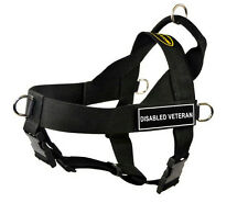 DT Universal Dog Harness with Velcro Patch DISABLED VETERAN