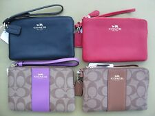 COACH Wristlet Wallet Leather Signature Small coin Purse Bag New 58035 54626 NWT