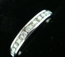 0.26ct Diamond Wedding Band Ring 14k White Gold Classic Anniversary Channel Set