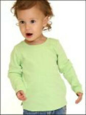 100% Cotton Long Sleeve T Shirt Blanks Soft Infant 6 Month 12 Month MANY COLORS