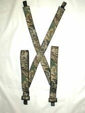 Advantage 'Timber' Camouflage Suspenders - Clip on