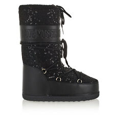 LOVE MOSCHINO Woman Padded Winter Boots With Sequins JA2404 Black New Collection