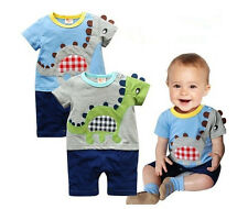 1pc Boy Baby Kid Toddler Infant Dinosaur Leisure Romper Jumpsuit Clothes Outfit