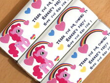 Personalised Chocolate Wrappers - Party Bag Table Favour - Cute Little Pony D4