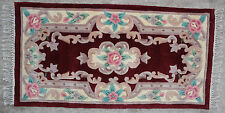Hand Tufted Carved Oriental Chinese Wool Rug 70L 2' x 4'