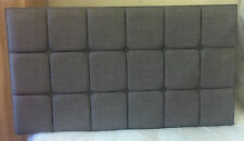 """CUBED 30"""" HIGH DESIGNER HEADBOARD LINEN/MAURICE/FAUX LEATHER **"""
