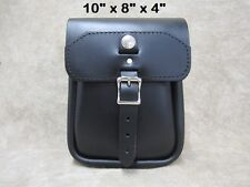 Motorcycle Leather Sissy Bar Bag - US Made - Custom Options Available 99X