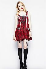 HELL BUNNY Rockabilly Pin Up Vintage Lolita ALEXANDER DRESS RED XS S M L XL